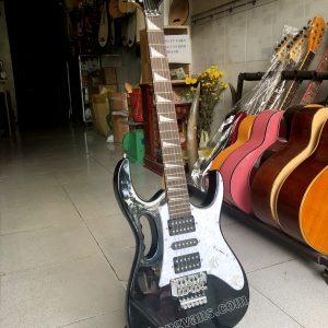 Đàn guitar điện ibanez màu đen