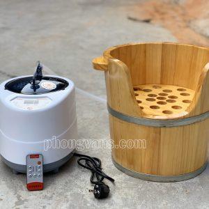 Bộ bồn chậu xông mặt gỗ thông