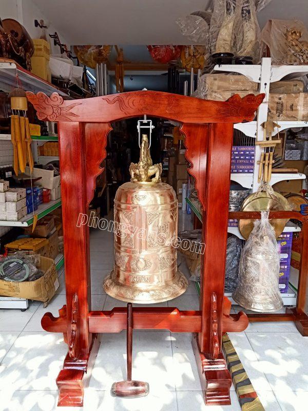 Bộ chuông đồng đỏ cao 80cm