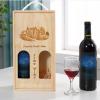 Hộp gỗ thông đựng 2 chai rượu vang đẹp