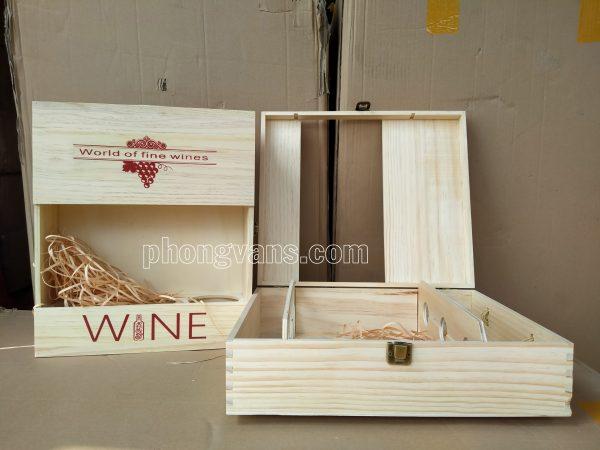 Bán sỉ hộp gỗ đựng chai rượu vang
