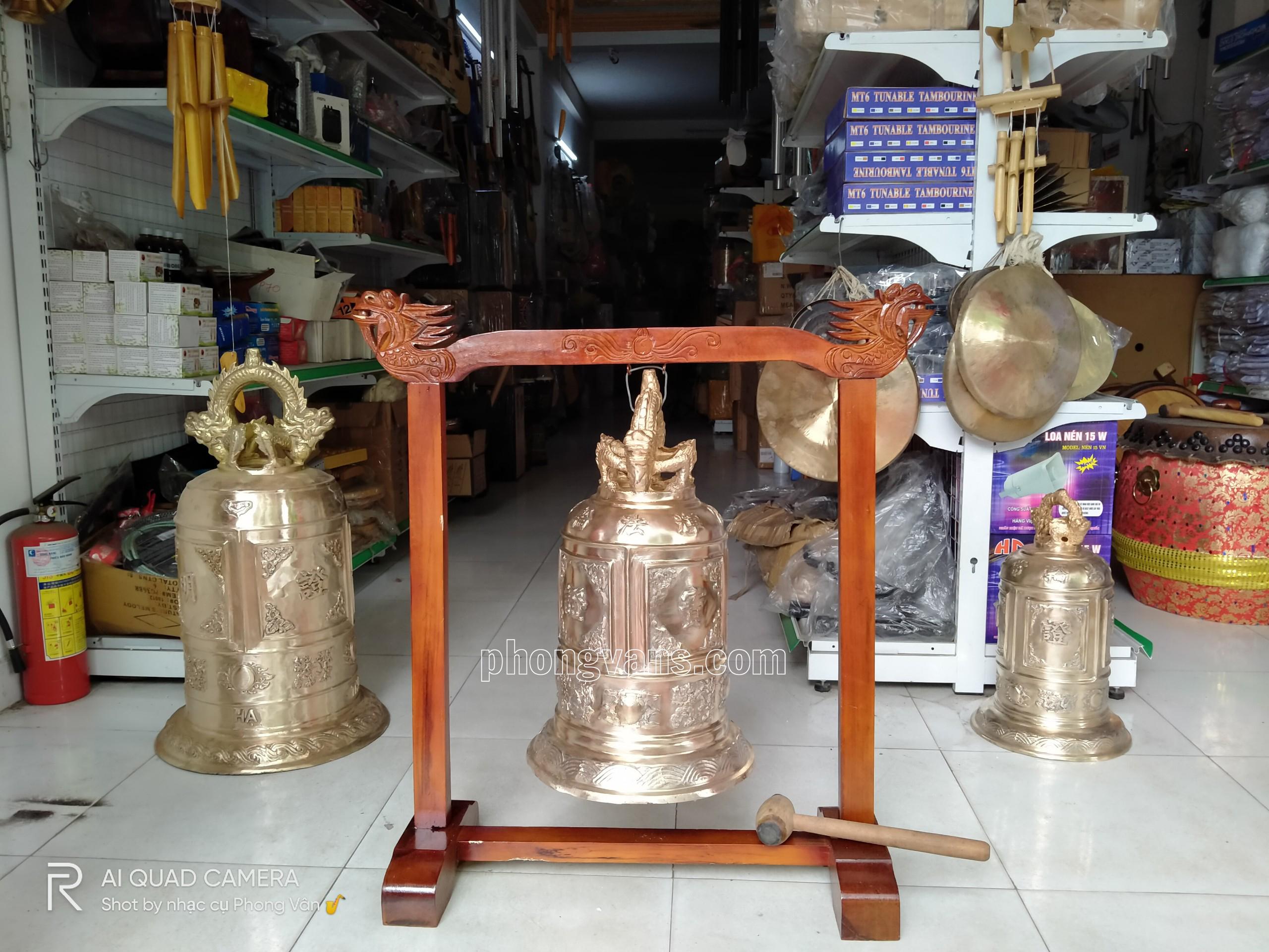 Chuông đồng tiểu hồng chung cao 60cm