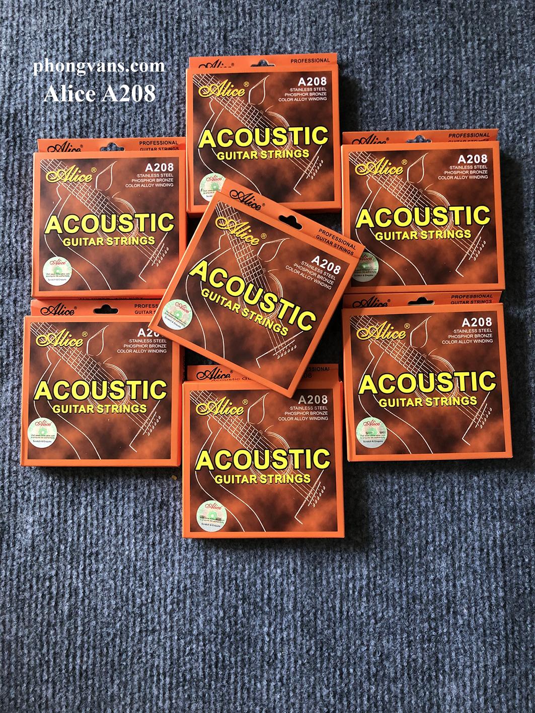 Dây Đàn Guitar Acoustic Alice A208 Chính Hãng