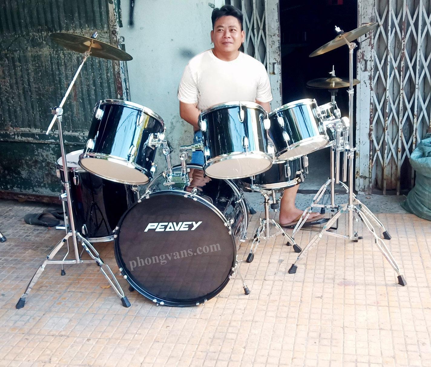 Bộ trống jazz Peavey drum màu đen