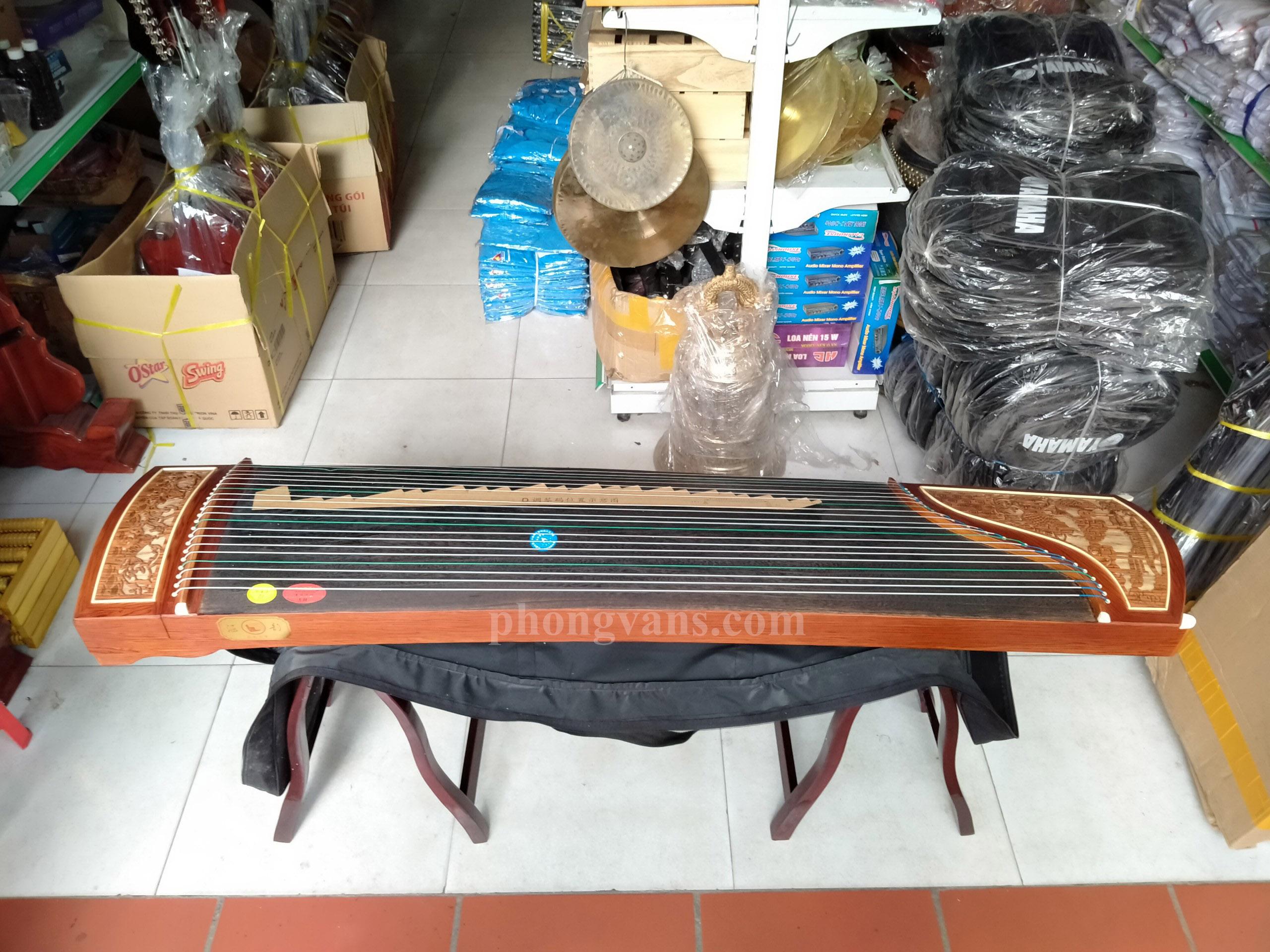 Đàn tranh trung quốc guzheng 21 dây cao cấp trạm cá chép