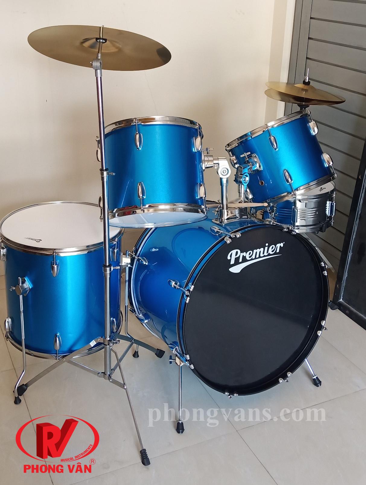 Trống nhạc jazz cơ Premier màu xanh