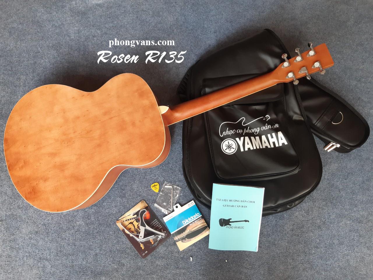 Đàn guitar acoustic Rosen R135 dáng OM
