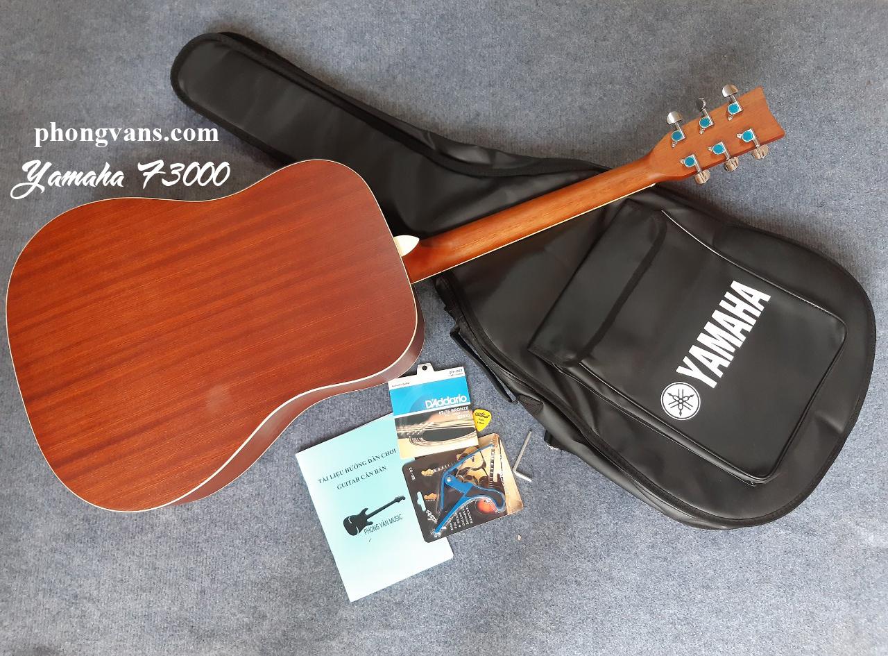Guitar acoustic Yamaha F3000 gỗ Mahogany