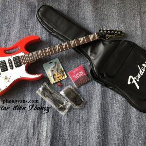Đàn guitar điện ibanez màu đỏ