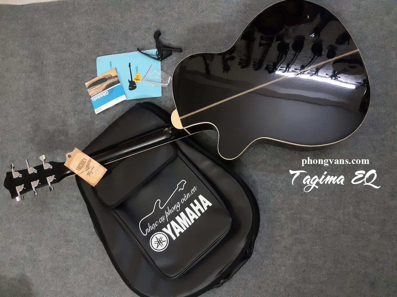 Đàn guitar acoustic chính hãng Tagima EQ màu đen