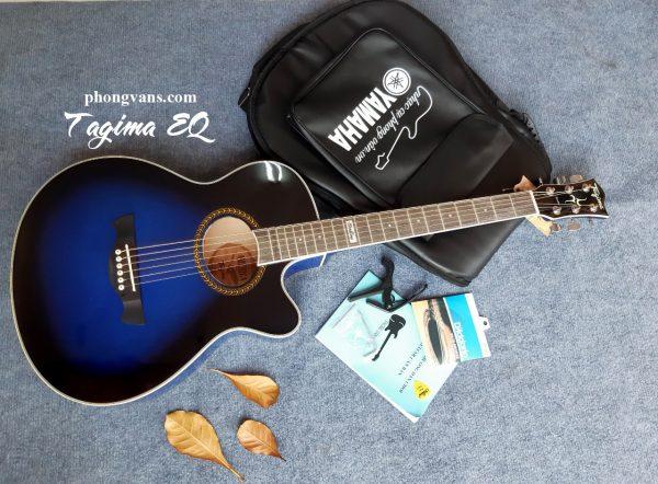 Đàn Guitar Tagima EQ chính hãng màu xanh