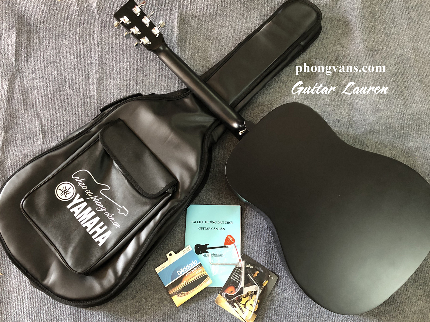 Đàn guitar acoustic Lauren size 41 màu đen