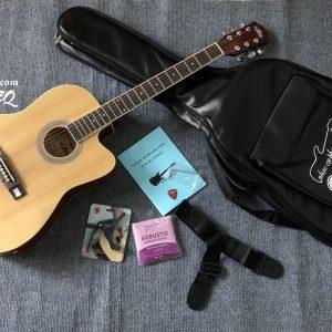 Guitar acoustic Aria EQ thùng mỏng