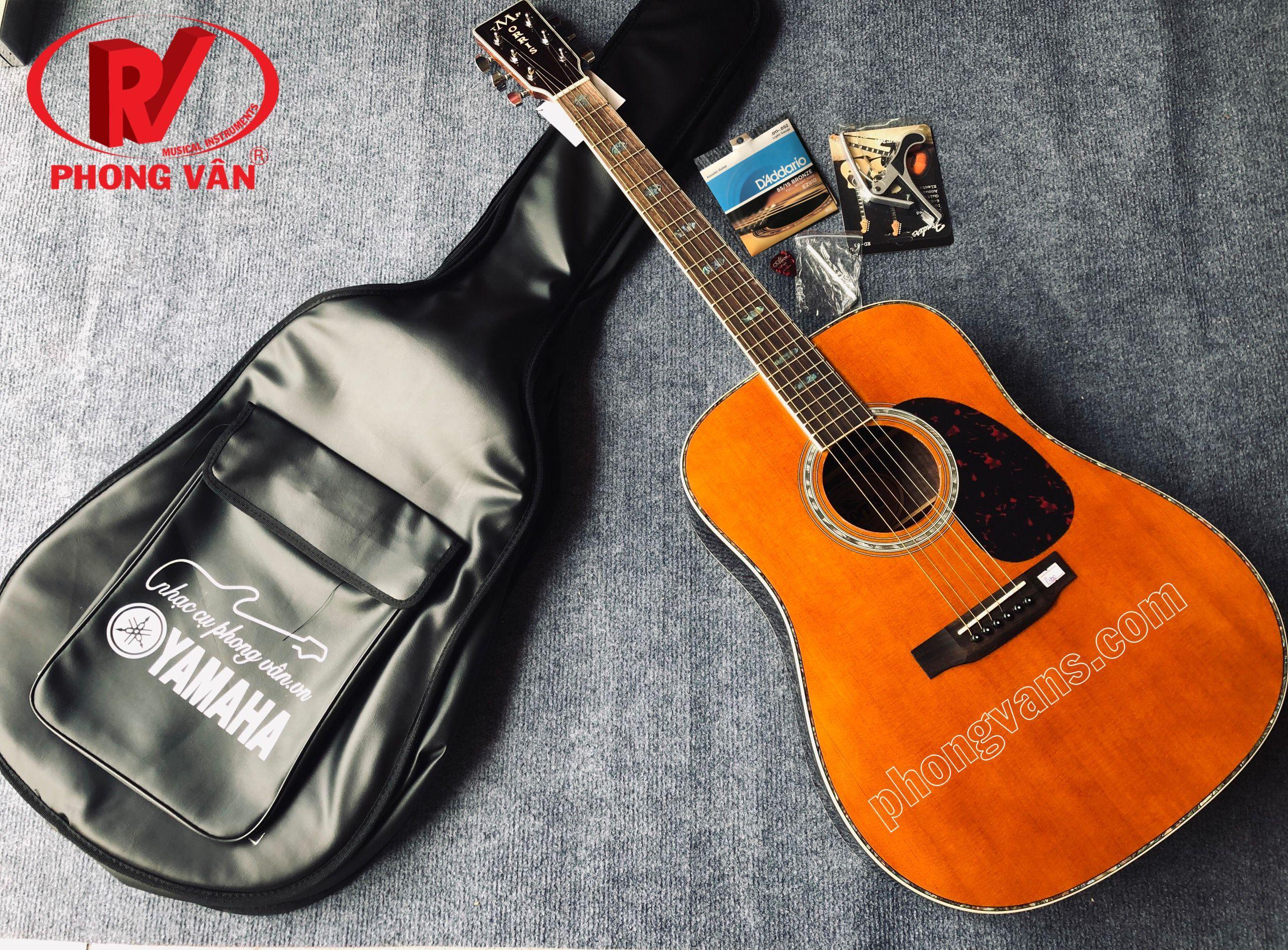 Đàn guitar acoustic gỗ cẩm Ấn Morris W50