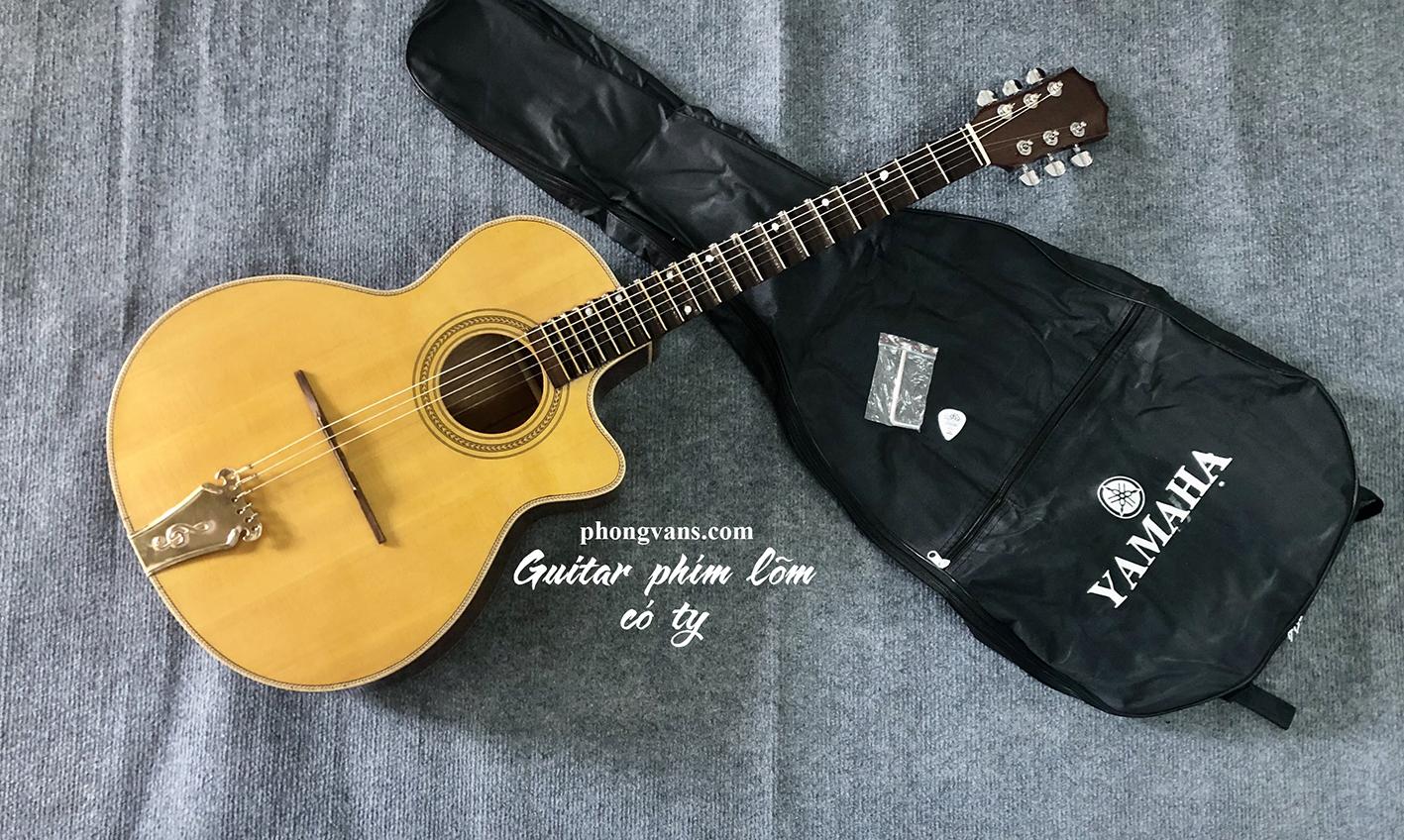 Đàn guitar cổ thùng phím lõm gỗ hồng đào có ty