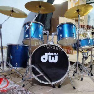 Trống nhạc jazz DW drum Mỹ màu xanh