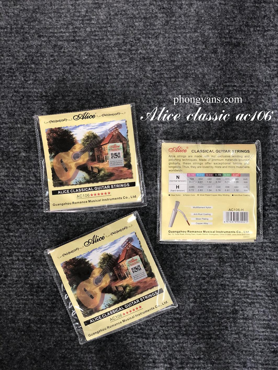 Bộ dây Guitar classic nilon Alice AC106