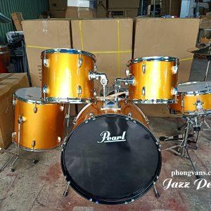 Trống nhạc jazz Pearl màu vàng