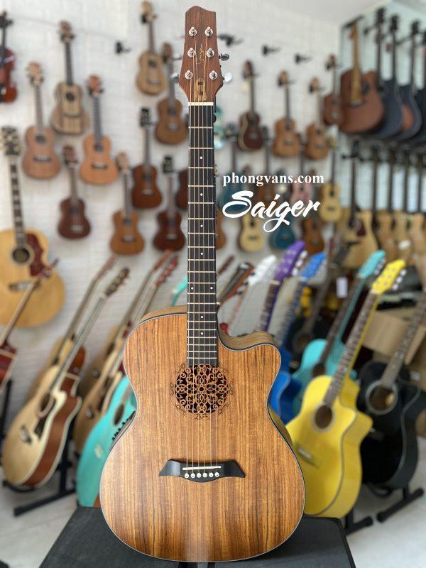 Đàn guitar Saiger gỗ walnut có EQ