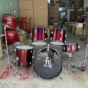 Bộ trống jazz drum hãng HT music màu đỏ