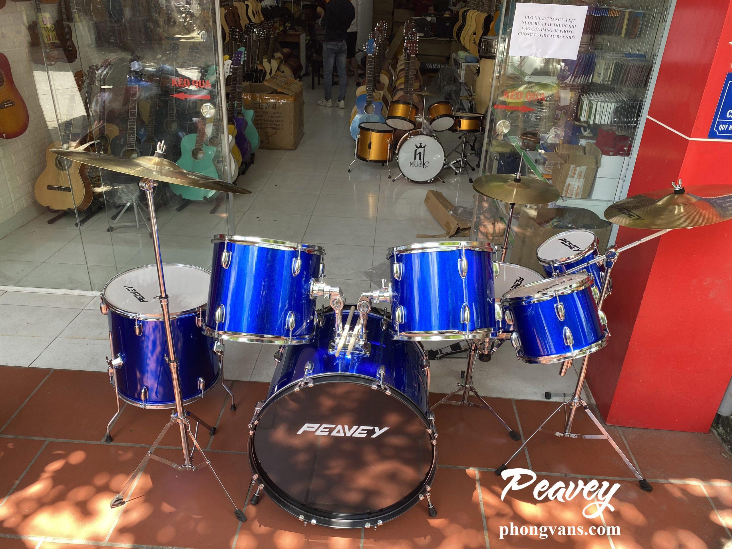 Bộ trống jazz Peavey màu xanh