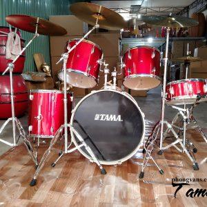 Bộ trống jazz Tama màu đỏ