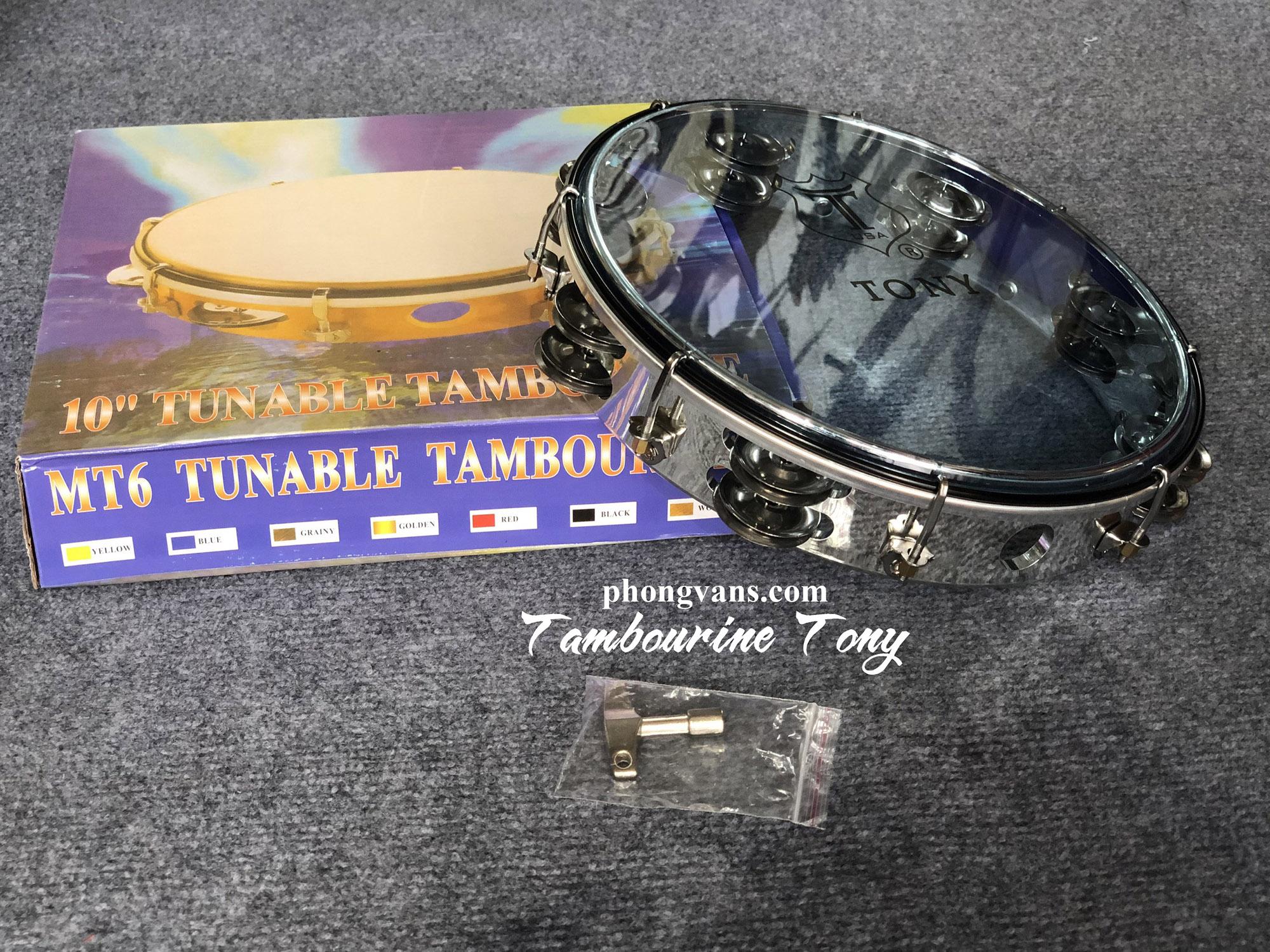 Trống gõ bo tambourine hãng Tony