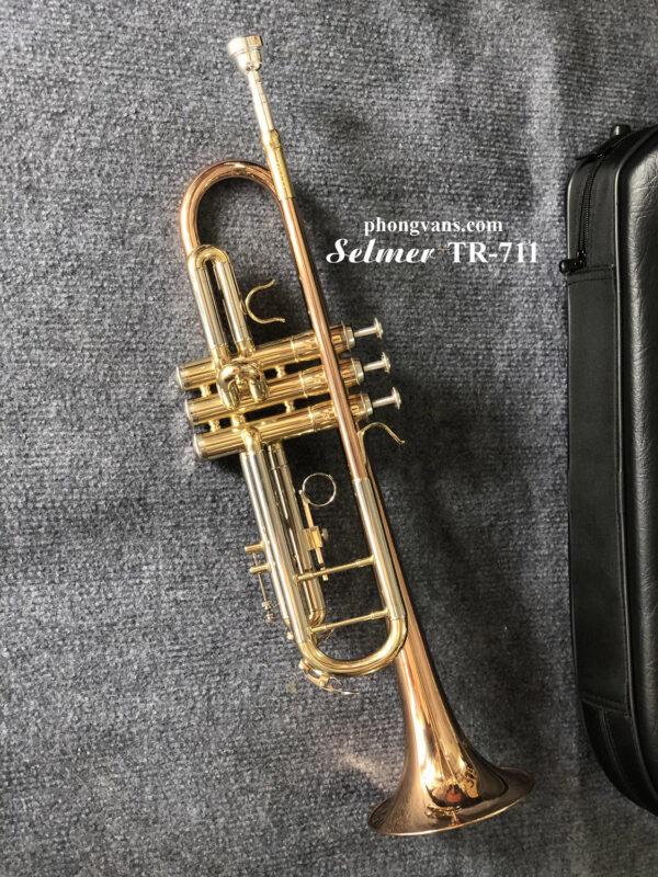 Kèn Trumpet 3 màu loa đỏ Selmer TR711