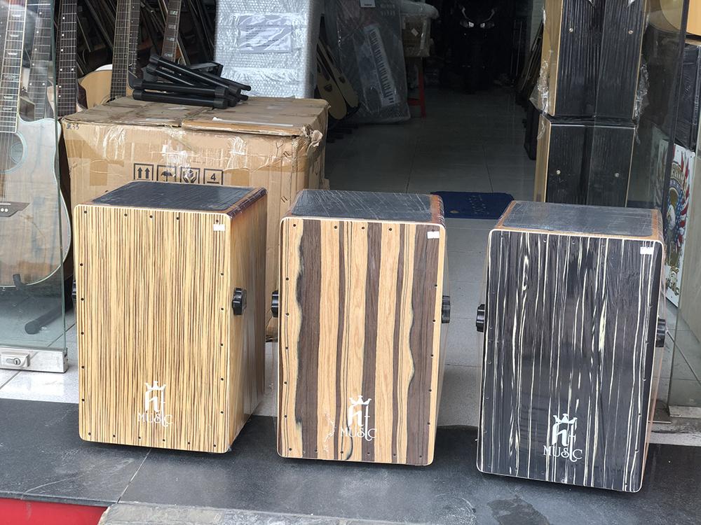 Trống cajon gỗ sồi có EQ