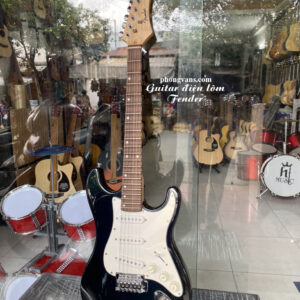 Guitar điện phím lõm Fender 3 mobin màu đen