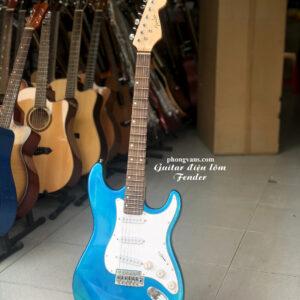 Guitar điện phím lõm Fender 3 mobin màu xanh