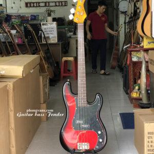 Guitar bass điện Fender màu đỏ