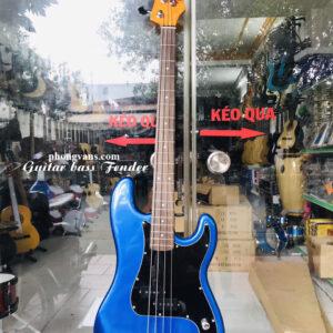 Guitar bass điện Fender màu xanh