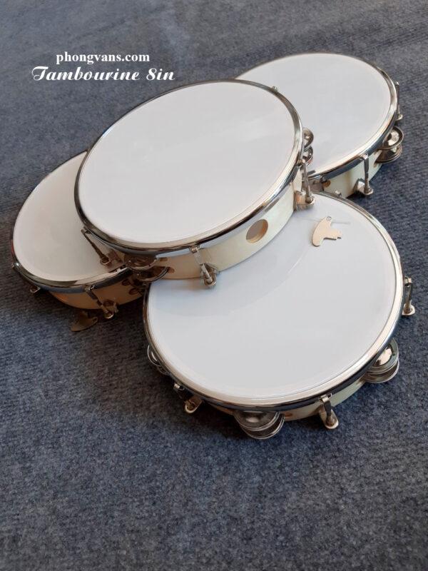 Trống lục lạc tambourine gỗ 20cm