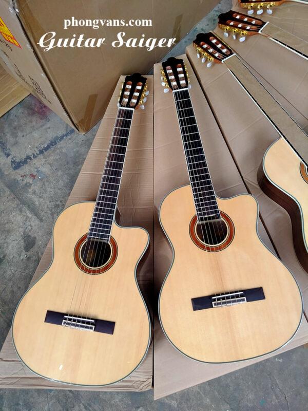 Bán sỉ guitar classic Saiger dáng khuyết chính hãng