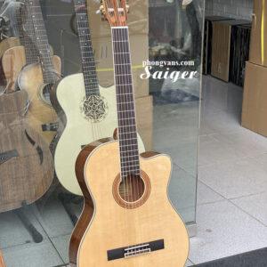 Guitar classic Saiger dáng khuyết chính hãng