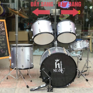Trống jazz drum hãng HT music màu xám
