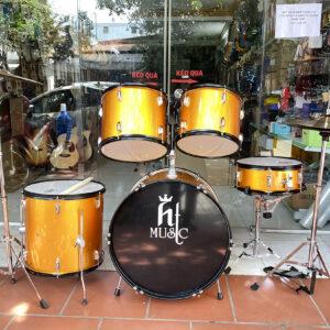 Trống jazz drum hãng HT music màu vàng