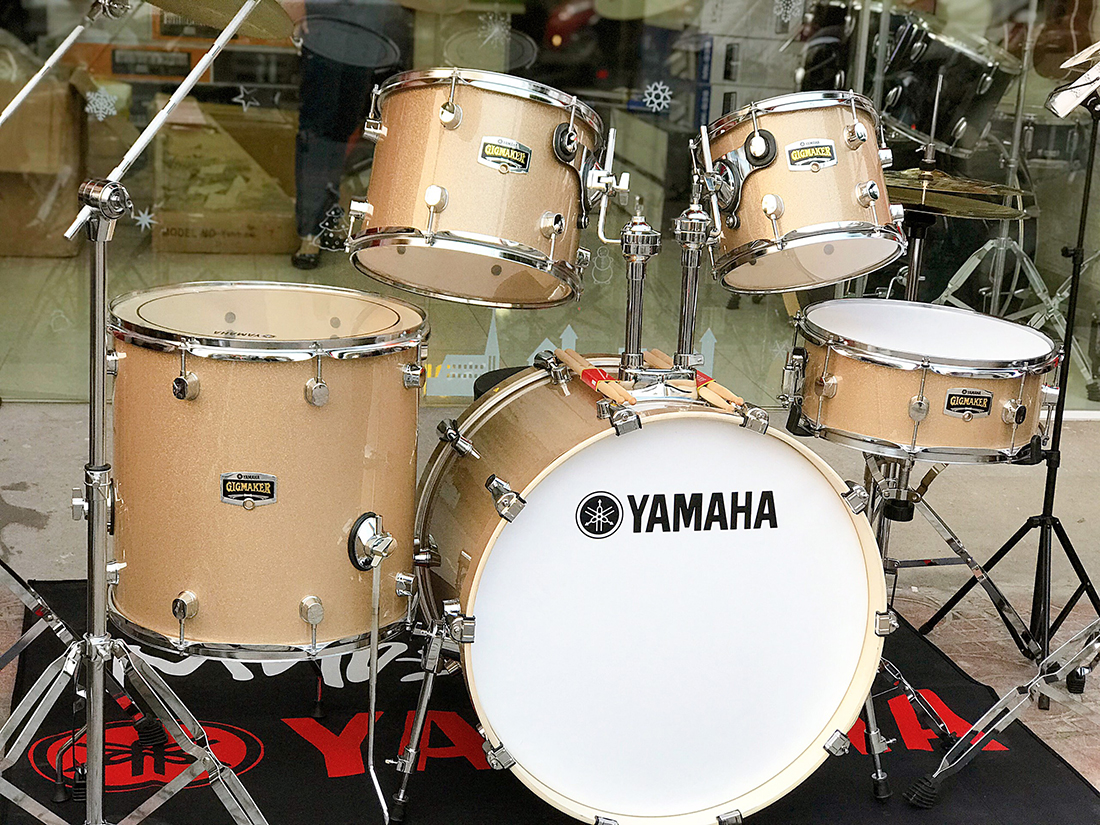 Bộ trống jazz Yamaha màu vàng gold cao cấp