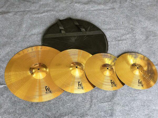 Bộ 4 lá cymbal 14-16-20 inch hãng HT music