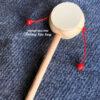 Trống bỏi lắc tay cho bé bằng gỗ