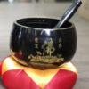 Chuông Đài Loan đen chữ Phật 7 inch