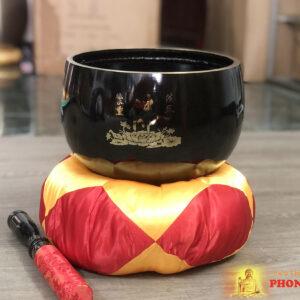 Chuông Đài Loan đen chữ Phật 9.5 inch