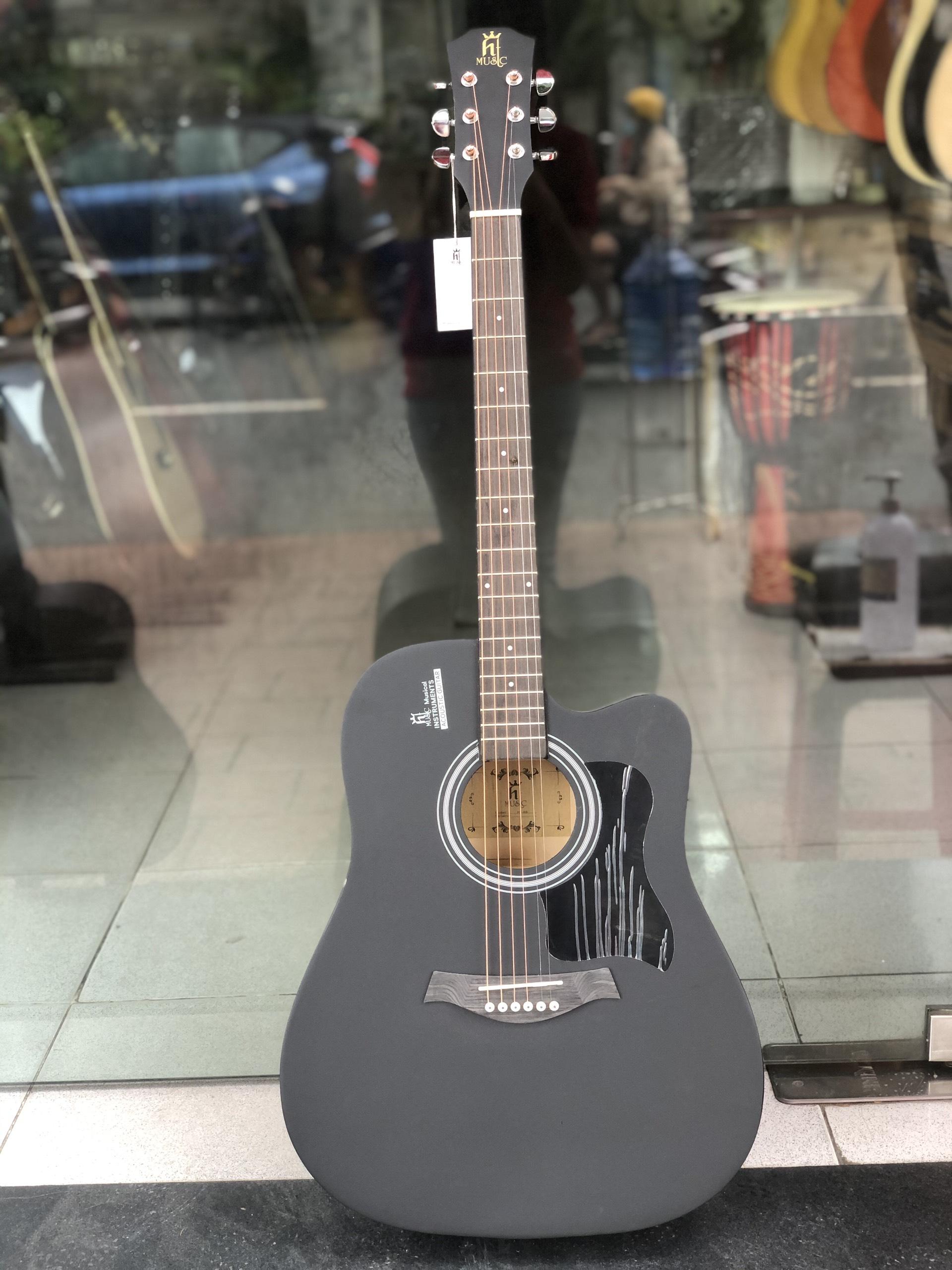 Guitar acoustic HT MUSIC màu đen